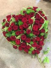 Coeur en rose rouge